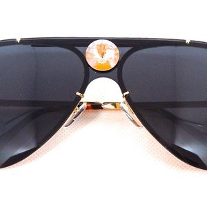 GASOLINE GLAMOUR Accessories - PANTHER POWER CANARY OPAL AVIATOR GLASSES NEW